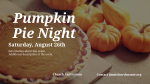 Pumpkin Pie Night  PowerPoint image 2