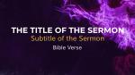 Holy Spirit, Come sermon title 16x9 PowerPoint Photoshop image