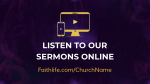 Holy Spirit, Come sermons online 16x9 PowerPoint Photoshop image