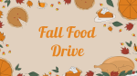 Fall Food Drive 16x9 PowerPoint image