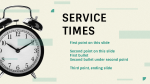 Service Times  PowerPoint Photoshop image 2