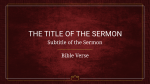 Prince Of Peace sermon title 16x9 PowerPoint image