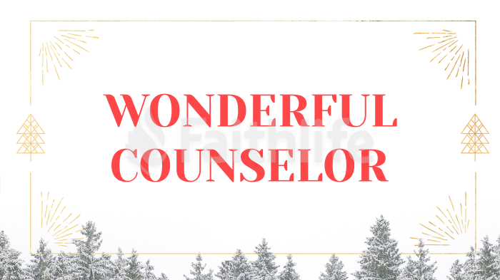 Wonderful Counselor large preview