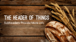 Wheat and Bread header subheader PowerPoint Photoshop image