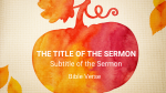 Give Thanks sermon title PowerPoint Photoshop image