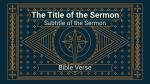Advent sermon title PowerPoint Photoshop image