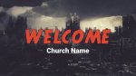 Comic Book City welcome PowerPoint Photoshop image