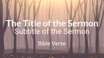 Autumn Forest sermon title PowerPoint Photoshop image
