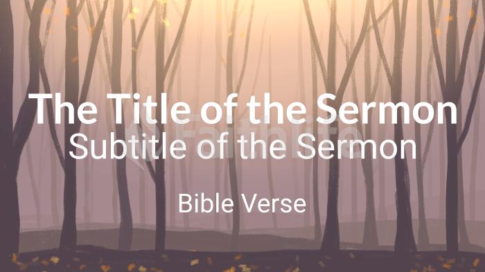 Autumn Forest sermon title smart media preview