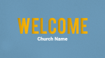 Blue Illustrated Service welcome PowerPoint Photoshop image