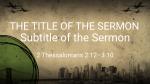 Grungy City sermon title PowerPoint Photoshop image