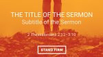 Orange Rock sermon title PowerPoint Photoshop image