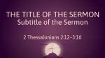 Purple Cross sermon title PowerPoint Photoshop image