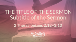 Romantic Beach sermon title PowerPoint Photoshop image