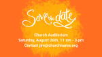 Orange Paint Mark save the date announcement PowerPoint Photoshop image