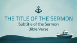 Solitary Boat sermon title PowerPoint image
