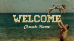 Nostalgic Beach Trip welcome PowerPoint image