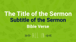 Sketched Arrows sermon title PowerPoint image