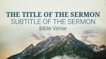 Sermon On The Mount title PowerPoint image
