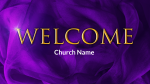 Purple Ribbon welcome PowerPoint image