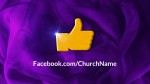 Purple Ribbon facebook PowerPoint image