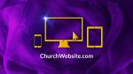 Purple Ribbon  PowerPoint image 8