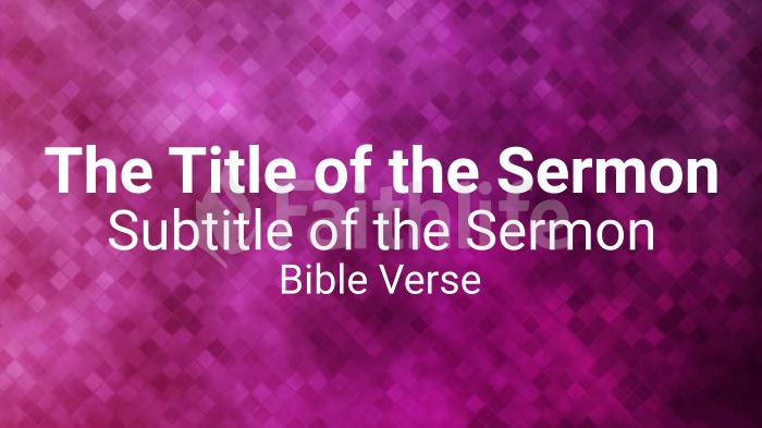 Pixelated sermon title purple smart media preview