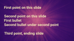 Purple Burst content a PowerPoint image