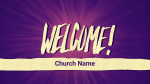 Purple Burst welcome PowerPoint image