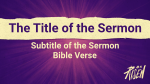 Purple Burst sermon title PowerPoint image