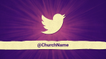 Purple Burst twitter PowerPoint image