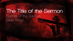 Cross in Red sermon title PowerPoint image