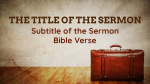 Baggage sermon title PowerPoint image