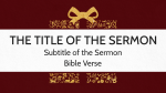 Unwrapping Christmas sermon title PowerPoint image