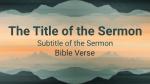 Mirrored Mountains sermon title PowerPoint image