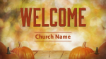 Fall Pumpkin welcome PowerPoint image