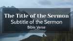 Who Is God sermon title PowerPoint image