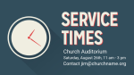 Service Times PowerPoint image