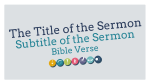 Miracles Of Jesus sermon title PowerPoint image