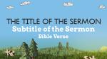 Hand Drawn Springtime sermon title PowerPoint image