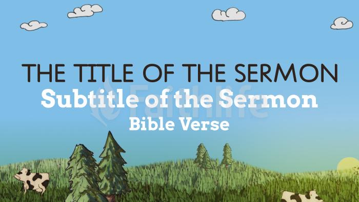 Hand Drawn Springtime sermon title smart media preview