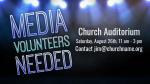 Media Volunteers Lights volunteer announcement PowerPoint image