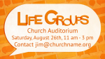 Small Groups Speech Bubbles life group announcement PowerPoint image