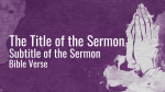 Prayer and Fasting sermon title PowerPoint image