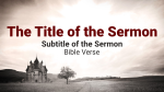 Kingdom of God sermon title PowerPoint image