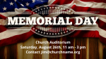 Patriotic Banner memorial day PowerPoint image
