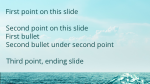 Ocean content a PowerPoint image