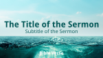 Ocean sermon title PowerPoint image