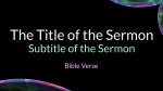 Ethereal sermon title PowerPoint image