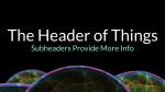 Ethereal header subheader PowerPoint image